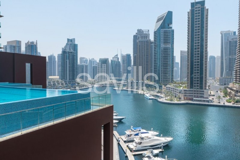 High floor|Turn key with incredible Marina view