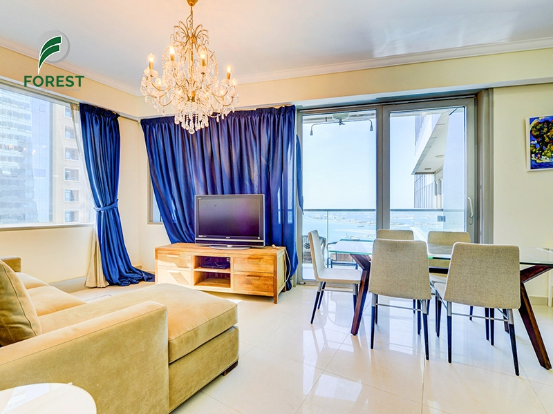 Sea View | Spacious 2BR Apt | Fully Furnished