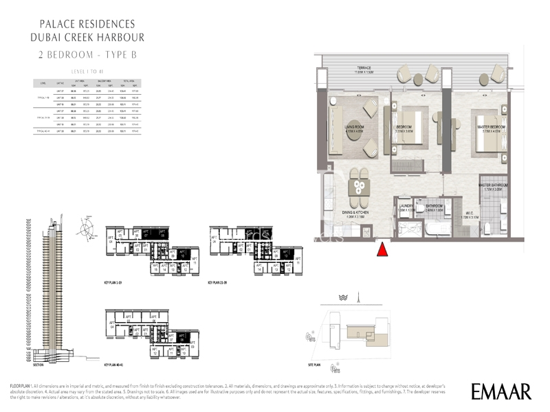 2B Apt /Palace Residences /Creek Harbour / DCH