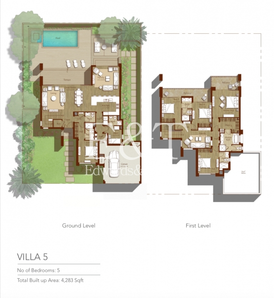 Huge Plot | Facing Pool | On The Park | Type 5, DH