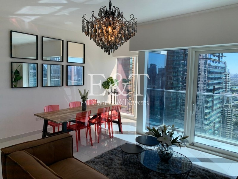 Stylish Furniture|Full Marina View|Well Maintained