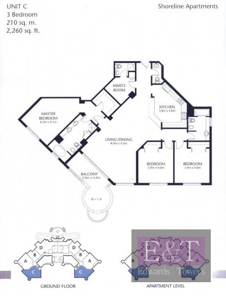 Best Layout 3 bed + Maids | High Floor| PJ