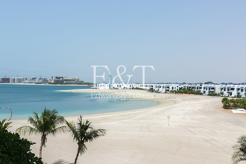 Unfurnished/ Beach Club/ Sea and Burj Al Arab View