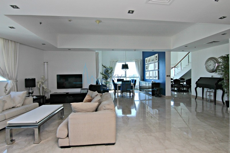 FULLY FURNISHED 5 BED PENTHOUSE IN BAY CENTRAL,DUBAI MARINA