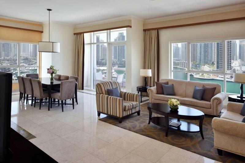 3 Bedroom Hotel Apartment For Rent in  Marriott Harbour Hotel And Suites,  Dubai Marina | 0