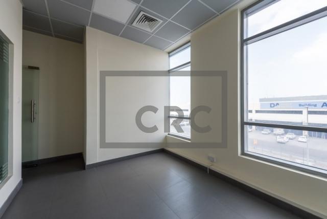 semi-furnished office for rent in al garhoud, al nisf building   10