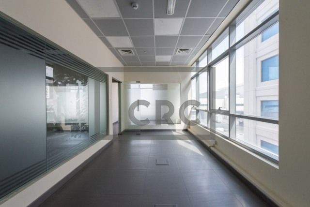 semi-furnished office for rent in al garhoud, al nisf building   15