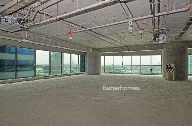 semi-furnished and shell & core office for rent in sheikh zayed road, burj al salam   1