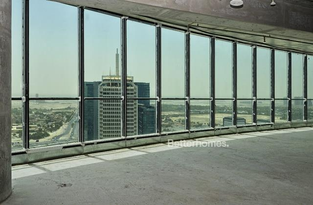 semi-furnished and shell & core office for rent in sheikh zayed road, burj al salam   4