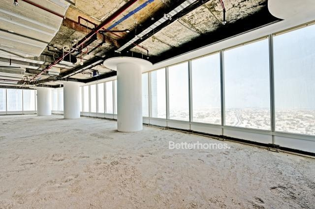 shell & core office for rent in business bay, bay gate   1