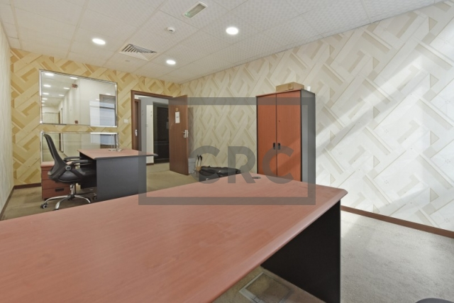 furnished business center for rent in al garhoud, airport road area | 1