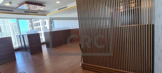 semi-furnished office for rent in business bay, churchill executive tower | 2