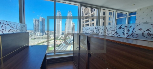 semi-furnished office for rent in business bay, churchill executive tower | 11