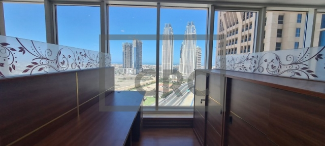 semi-furnished office for rent in business bay, churchill executive tower | 13
