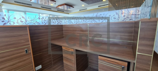 semi-furnished office for rent in business bay, churchill executive tower | 9