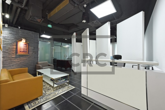 partitioned and furnished office for sale in sheikh zayed road, latifa tower | 1