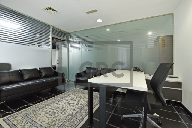 partitioned and furnished office for sale in sheikh zayed road, latifa tower | 2