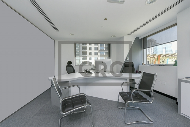 fitted, partitioned and furnished office for sale in business bay, executive tower d(aspect)   5