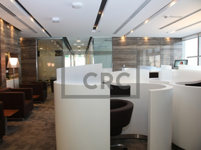 fitted, partitioned and furnished office for rent in downtown dubai, emaar square 6 | 9