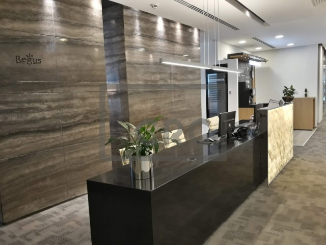 fitted, partitioned and furnished office for rent in downtown dubai, emaar square 6 | 2