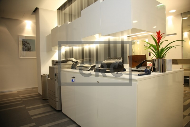 fitted, partitioned and furnished office for rent in downtown dubai, emaar square 6 | 7