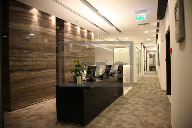 fitted, partitioned and furnished office for rent in downtown dubai, emaar square 6 | 8