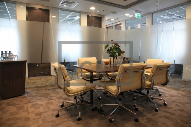 fitted, partitioned and furnished office for rent in downtown dubai, emaar square 6 | 1