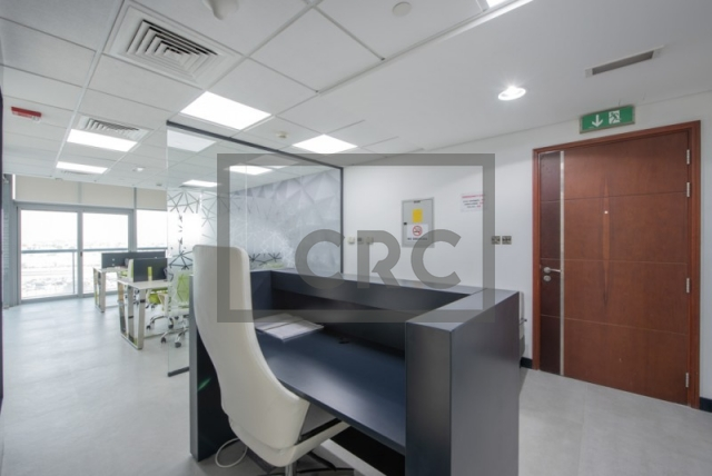 partitioned and semi-furnished office for sale in jumeirah lake towers, tiffany tower | 7