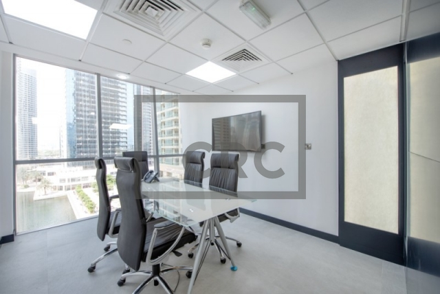 partitioned and semi-furnished office for sale in jumeirah lake towers, tiffany tower | 1