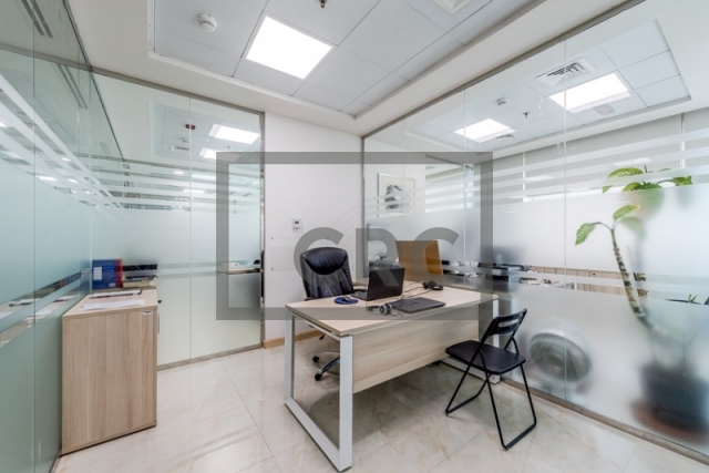 furnished office for sale in business bay, bay square building 13 | 2