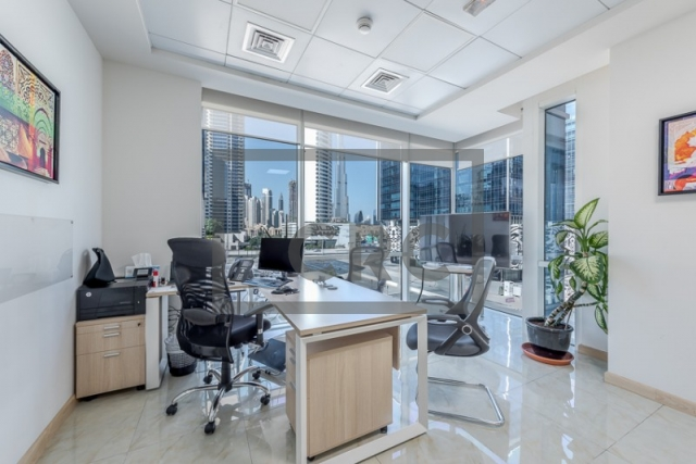 furnished office for sale in business bay, bay square building 13 | 12