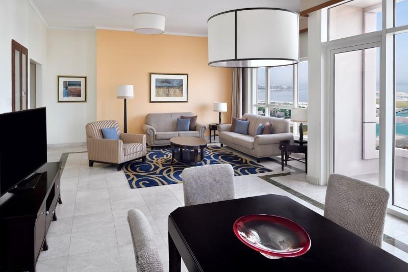 2 Bedroom Hotel Apartment For Rent in  Marriott Harbour Hotel And Suites,  Dubai Marina | 4