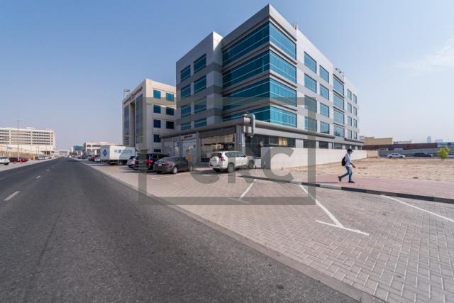 semi-furnished office for rent in al garhoud, al nisf building | 14
