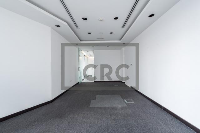 semi-furnished office for rent in al garhoud, al nisf building | 3