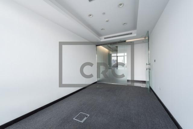 semi-furnished office for rent in al garhoud, al nisf building | 4