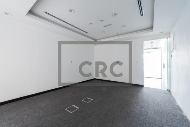 semi-furnished office for rent in al garhoud, al nisf building | 6