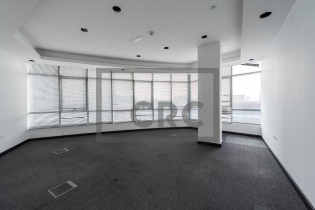 semi-furnished office for rent in al garhoud, al nisf building | 0