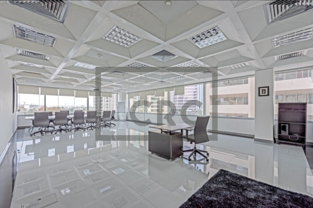 semi-furnished business center for rent in deira, port saeed   0