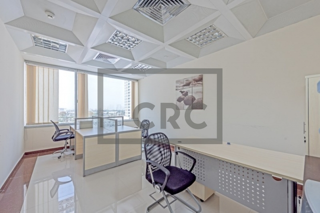 semi-furnished business center for rent in deira, port saeed   8