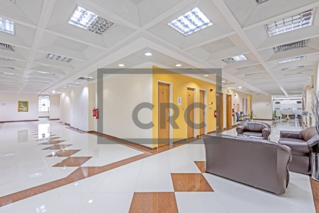 semi-furnished business center for rent in deira, port saeed   9