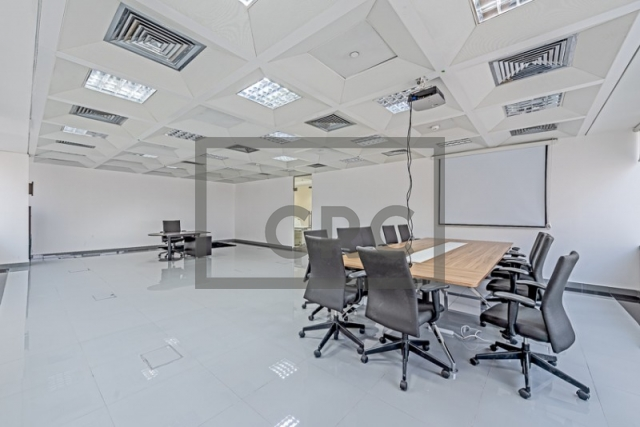 semi-furnished business center for rent in deira, port saeed   3