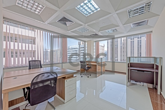 semi-furnished business center for rent in deira, port saeed   14