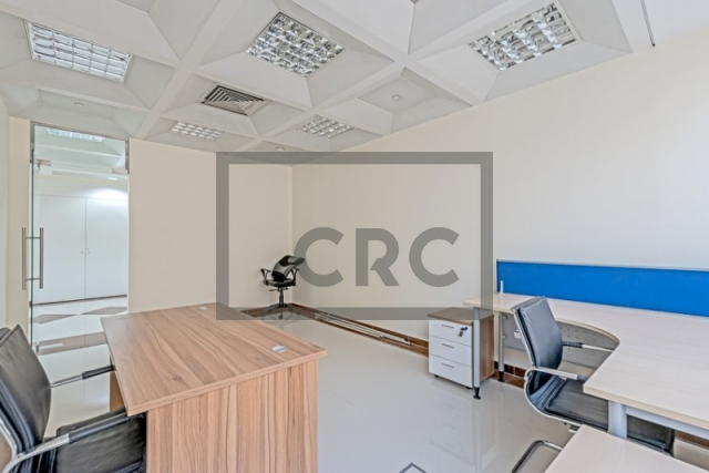 semi-furnished business center for rent in deira, port saeed | 0