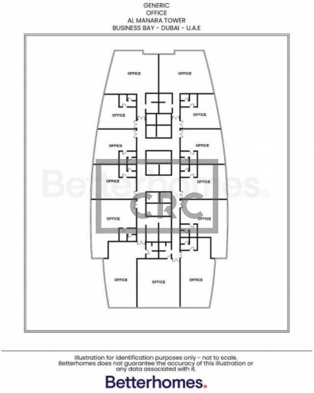 office for rent in business bay, al manara tower   9