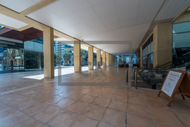 furnished retail for rent in business bay, bay square building 7 | 3