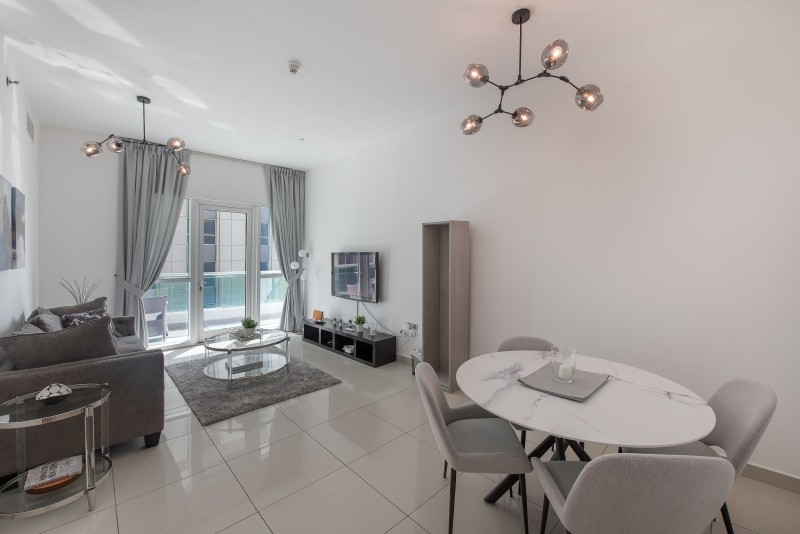 1 Bedroom Apartment For Short Term Rental in  Marina Pinnacle,  Dubai Marina   1