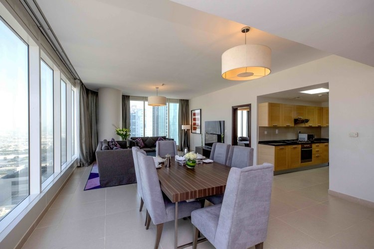 3 Bedroom Apartment For Short Term Rental in  Nassima Tower,  Sheikh Zayed Road   0