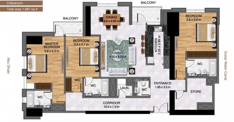 3 Bedroom Apartment For Sale in  Al Habtoor City,  Business Bay   19