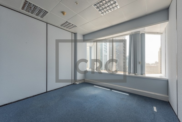 semi-furnished office for rent in sheikh zayed road, al moosa tower ii   2
