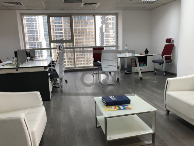 furnished office for sale in jumeirah lake towers, goldcrest executive   2